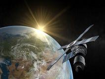 De satelliet van de aarde vector illustratie