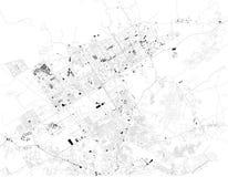 De satellietkaart van Islamabad, het is de hoofdstad van Pakistan Kaart van straten en gebouwen van het stadscentrum vector illustratie