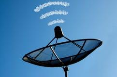 De satellietschotel Royalty-vrije Stock Afbeeldingen