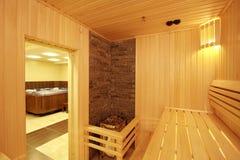 De sauna Stock Foto's