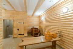 De sauna van Ñomfortable Royalty-vrije Stock Foto's