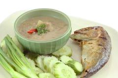 De saus van de het deegspaanse peper van makreelgarnalen Royalty-vrije Stock Afbeelding