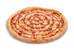 De saus van het pizzabacon Stock Foto