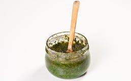 De saus van Pesto Royalty-vrije Stock Afbeeldingen