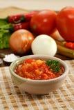 De saus van Spaanse pepers Royalty-vrije Stock Foto's