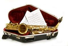 De saxofoon van de alt Royalty-vrije Stock Afbeeldingen