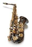 De saxofoon van de chocolade Royalty-vrije Stock Foto's