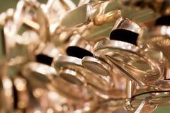 De saxofoon van fragmentkleppen Stock Foto