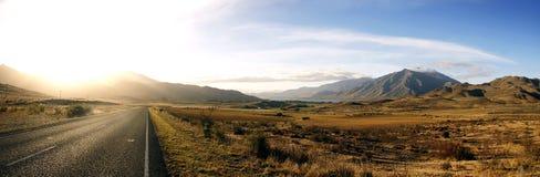 De scène inNew Zeeland van de weg Royalty-vrije Stock Afbeelding