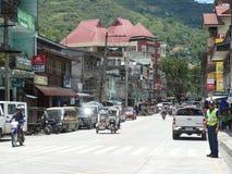 De scène van de Bontocstraat, Luzon, Filippijnen royalty-vrije stock foto's