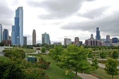 De scène van Chicago in de Zomer Stock Foto's
