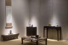 De scène van Chinese antieke studie royalty-vrije stock afbeelding