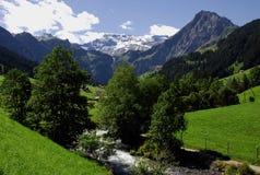 De scène van de berg, Adelboden, Zwitserland Royalty-vrije Stock Foto
