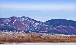 De Scène van de berg in de Winter royalty-vrije stock foto