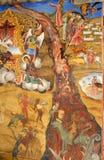 De scène van de bijbel het mural schilderen Stock Afbeelding