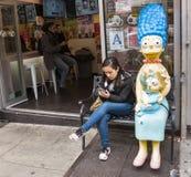 De scène van de Chinatownstraat Stock Foto's