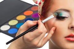 De make-up van Pinup royalty-vrije stock afbeeldingen