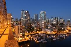 De scène van de de stadsnacht van Vancouver Royalty-vrije Stock Foto's
