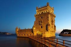 De scène van de de Torennacht van Belem Royalty-vrije Stock Afbeeldingen