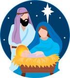 De Scène van de geboorte van Christus Stock Afbeeldingen