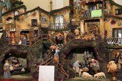 De scène van de geboorte van Christus Stock Fotografie