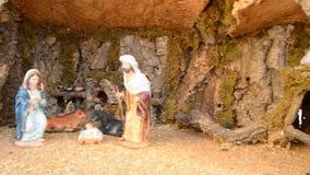 De scène van de geboorte van Christus stock videobeelden