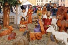 De scène van de geboorte van Christus Royalty-vrije Stock Foto's