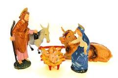 De scène van de geboorte van Christus (presepe) Stock Fotografie