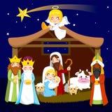 De Scène van de Geboorte van Christus van Kerstmis vector illustratie