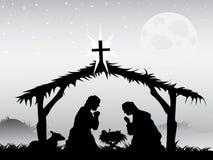 De scène van de geboorte van Christus, vector stock illustratie