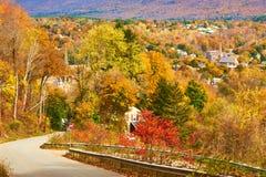 De scène van de herfst de kleurrijke achtergrond Stock Foto's