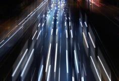 De scène van de het verkeersnacht van de stad. Royalty-vrije Stock Afbeelding