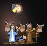De Scène van de Kerstmisgeboorte van christus Royalty-vrije Stock Foto