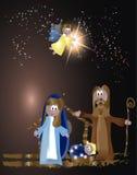 De Scène van de Kerstmisgeboorte van christus Stock Foto's