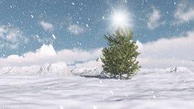 De scène van de Kerstmiswinter vector illustratie
