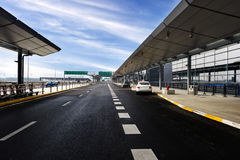 De scène van de luchthavenbouw Royalty-vrije Stock Afbeeldingen