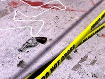 De scène van de misdaad vector illustratie