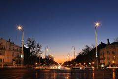 De scène van de nacht van Boedapest Stock Foto's