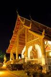 De Scène van de nacht van Boeddhistische Architectuur Royalty-vrije Stock Foto