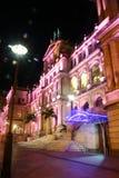 De scène van de nacht van het Casino van de Schatkist van Brisbane Royalty-vrije Stock Afbeelding