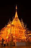 De scène van de nacht van Phra Thart Doi Suthep Stock Foto's