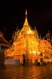 De scène van de nacht van Phra Thart Doi Suthep Stock Afbeelding