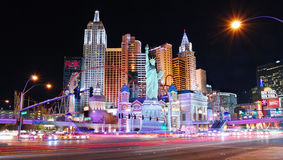 De Scène van de Nacht van Vegas van Las Royalty-vrije Stock Afbeelding