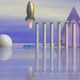 De Scène van de science fiction royalty-vrije illustratie