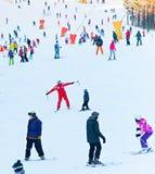 De scène van de skitoevlucht Stock Foto's