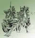 De scène van de slag van de Oorlog van de Krim Royalty-vrije Stock Foto