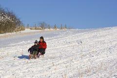 De scène van de sneeuw royalty-vrije stock afbeelding