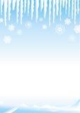 De scène van de sneeuw vector illustratie
