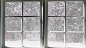De scène van de sneeuwdaling