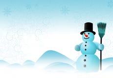 De Scène van de sneeuwman Stock Fotografie